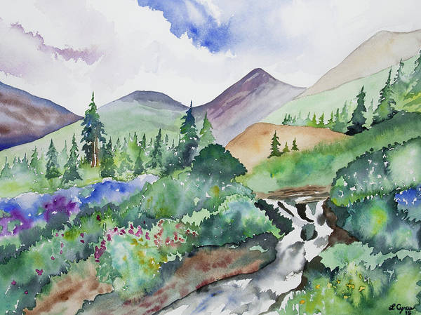 Painting - Watercolor - San Juans Summer Scene by Cascade Colors