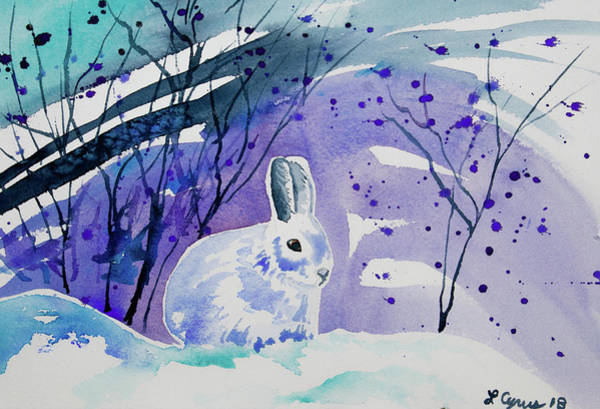 Painting - Watercolor - Snowshoe Hare by Cascade Colors