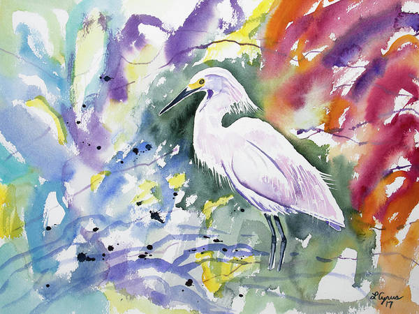 Painting - Watercolor - Snowy Egret by Cascade Colors