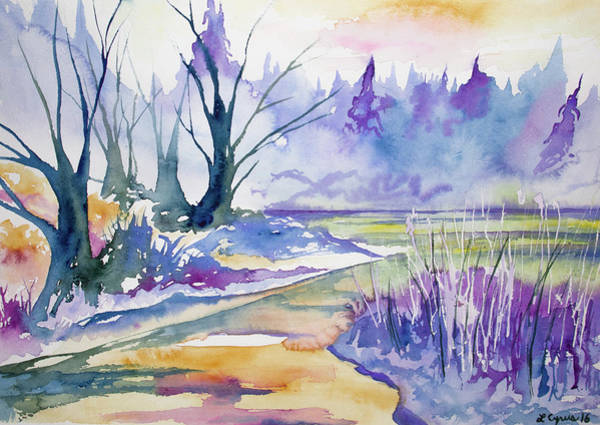 Painting - Watercolor - Stream And Forest by Cascade Colors