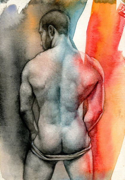 Wall Art - Painting - Watercolor Study 6 by Chris Lopez