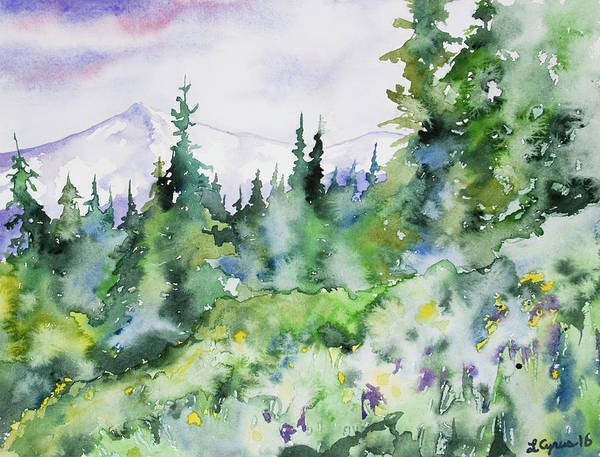 Painting - Watercolor - Summer In The Rockies by Cascade Colors