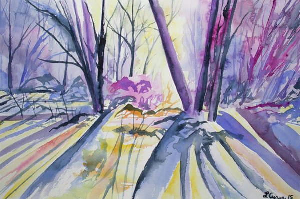 Painting - Watercolor - Sunlight Through The Trees by Cascade Colors