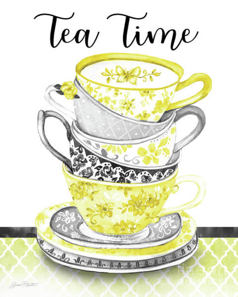 Teacup Painting - Watercolor Teacups-c by Jean Plout