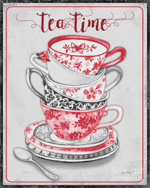 Teacup Painting - Watercolor Teacups-d by Jean Plout