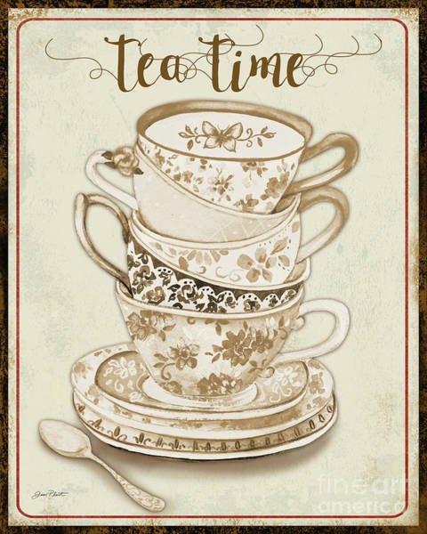 Teacup Painting - Watercolor Teacups-e by Jean Plout