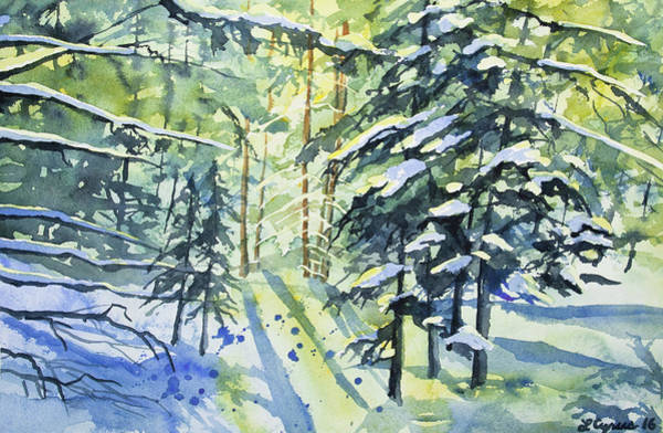 Painting - Watercolor - The Wintry Woods by Cascade Colors