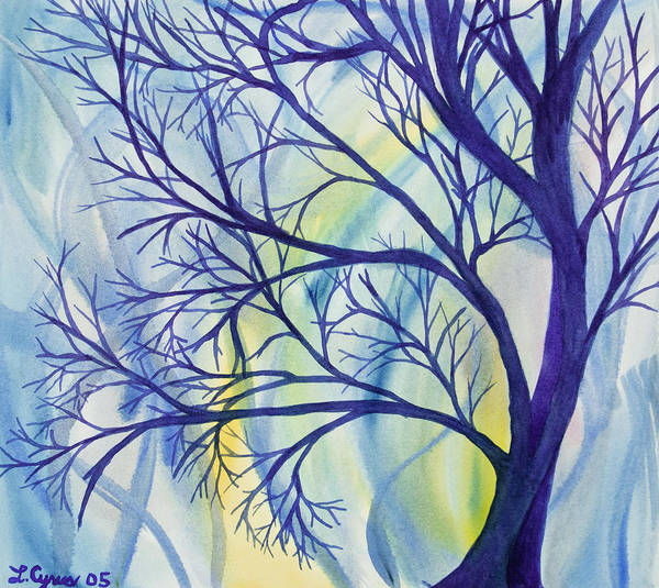 Painting - Watercolor - Tree Abstract by Cascade Colors