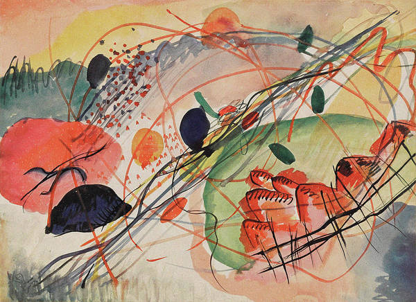 Endless Painting - Watercolor    by Wassily Kandinsky