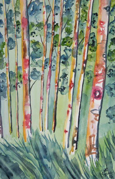 Painting - Watercolor - Whimsical Forest by Cascade Colors