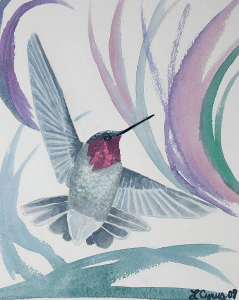 Painting - Watercolor - Whimsical Hummingbird by Cascade Colors