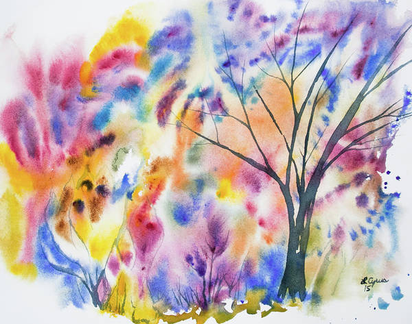 Painting - Watercolor - Whimsical Tree by Cascade Colors