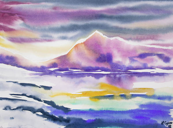 Painting - Watercolor - Winter Arctic Impression by Cascade Colors