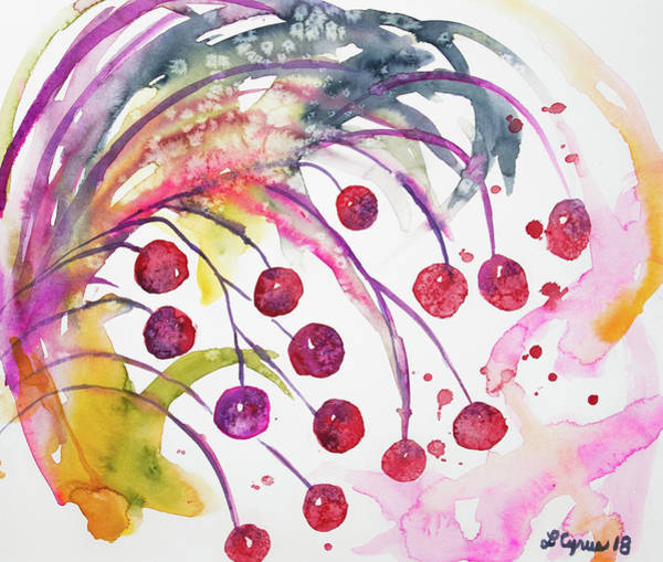 Painting - Watercolor - Winter Berry Abstract by Cascade Colors