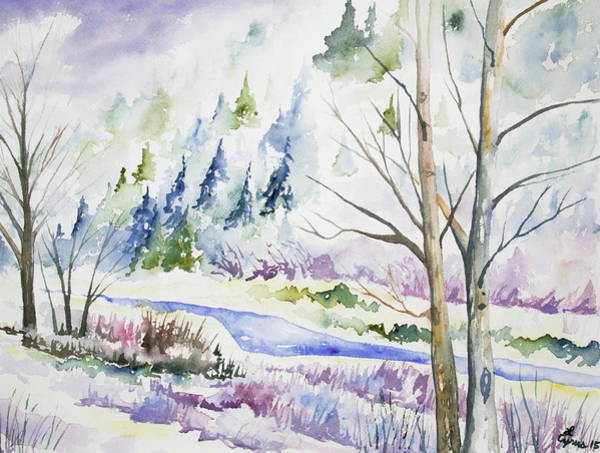 Painting - Watercolor - Winter In Clear Creek Canyon by Cascade Colors