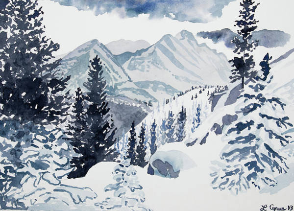 Painting - Watercolor - Winter Landscape by Cascade Colors