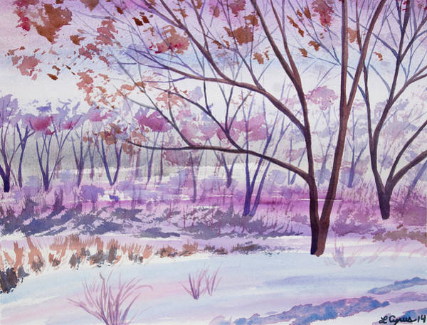 Painting - Watercolor - Woodland Scene by Cascade Colors
