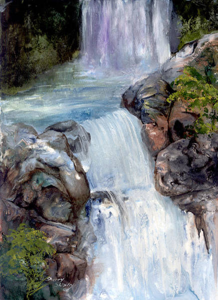 Painting - Waterfall 1 by Sherry Shipley