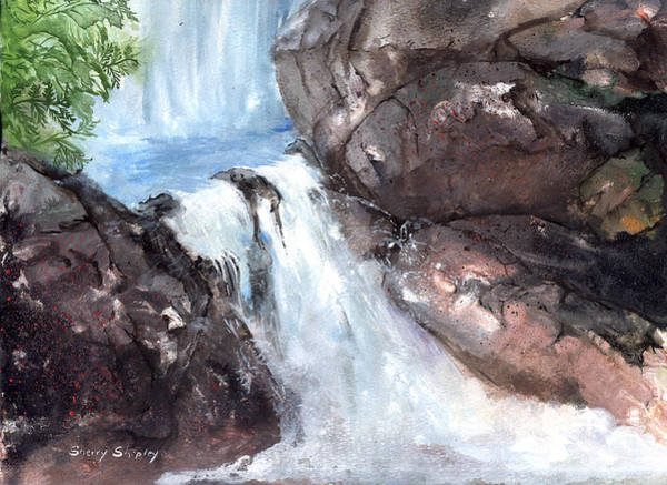Painting - Waterfall 2 by Sherry Shipley