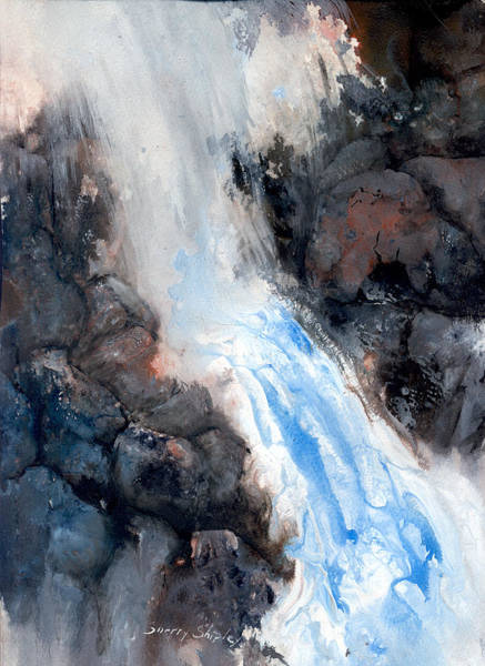 Painting - Waterfall 3 by Sherry Shipley