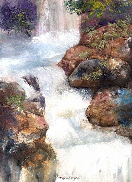 Painting - Waterfall 4 by Sherry Shipley