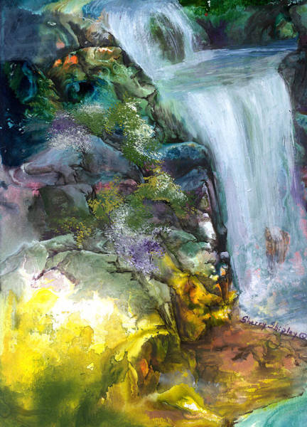 Painting - Waterfall 6 by Sherry Shipley