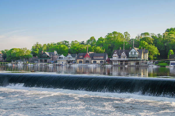Photograph - Waterfall At Boathouse Row - Philadelphia by Bill Cannon