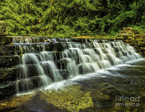 Photograph - Waterfall At Hickory Run by Nick Zelinsky