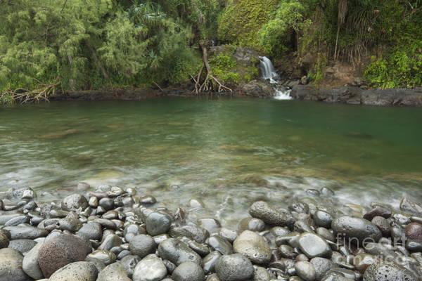 Photograph - Waterfall At Kolekole Beach Park by Charmian Vistaunet