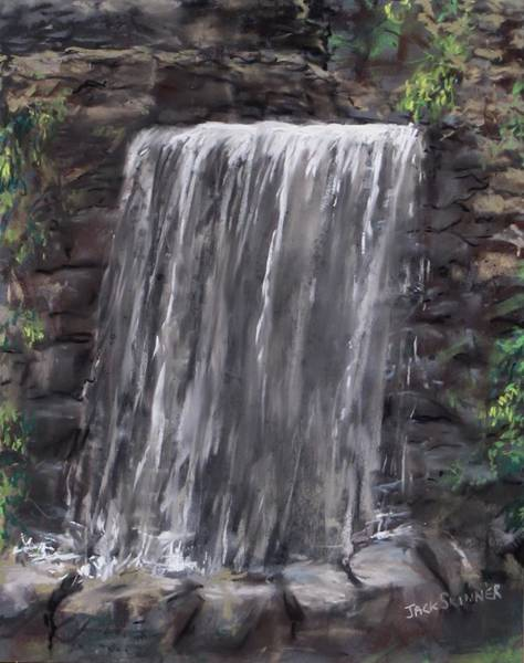 Wall Art - Painting - Waterfall At Longfellow's Gristmill by Jack Skinner