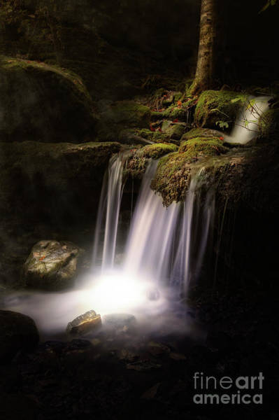 Photograph - Waterfall At Night by Tim Wemple