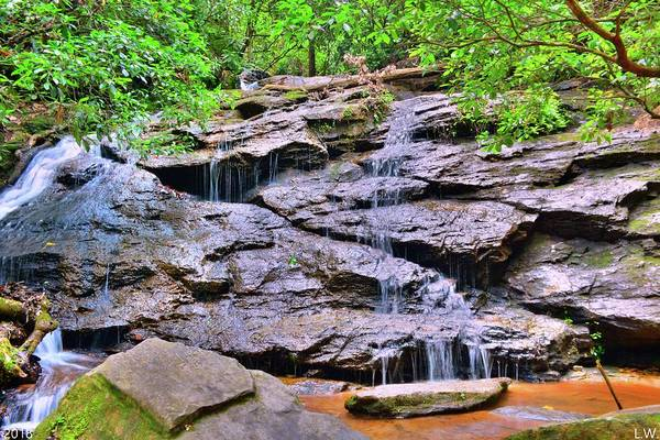 Photograph - Waterfall At Stumphouse Tunnel Oconee County South Carolina by Lisa Wooten