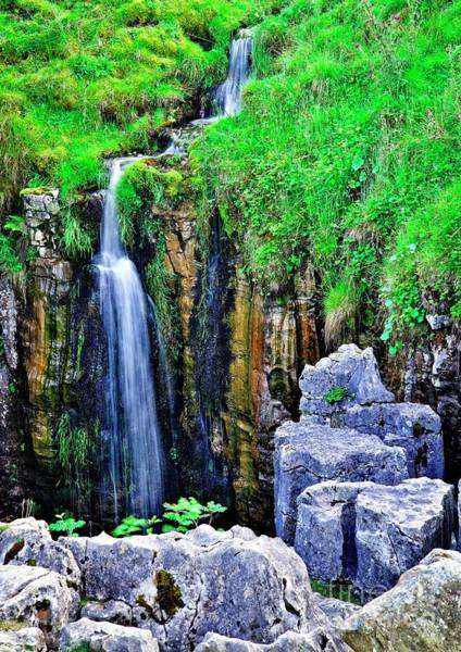 Photograph - Waterfall At The Buttertubs, Swaledale by Martyn Arnold