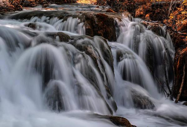 Photograph - Waterfall Cascades by Jaroslaw Blaminsky