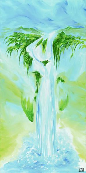 Wall Art - Painting - Waterfall by David Junod