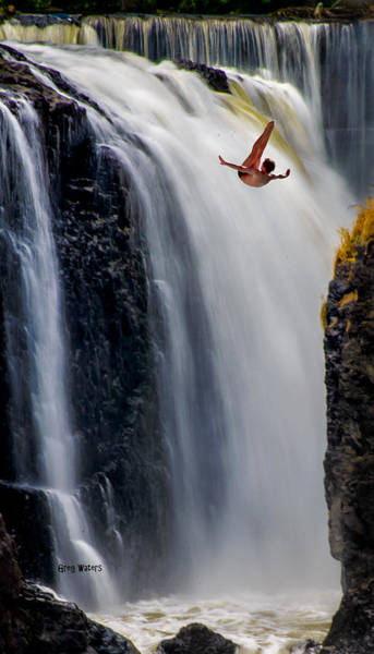 Wall Art - Photograph - Waterfall Dive by Greg Waters