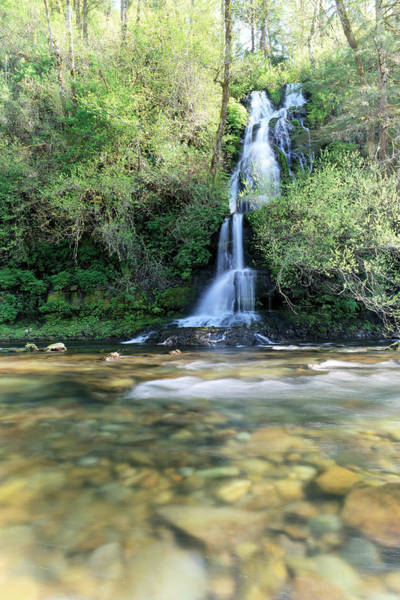 Washougal Photograph - Waterfall Falling Into The Washougal River by Jeff Swan