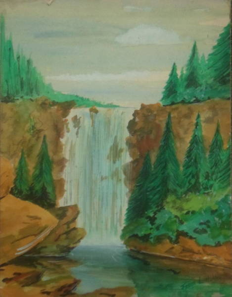 Painting - Waterfall by Frank Hunter