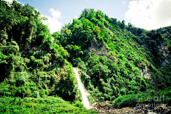 Photograph - waterfall Himalayas mountains NEPAL by Raimond Klavins