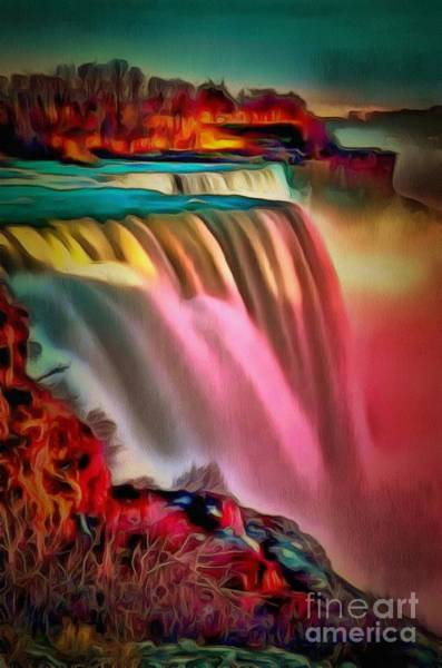 Painting - Waterfall In Ambiance by Catherine Lott