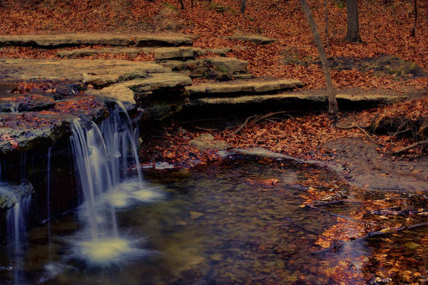 Wall Art - Photograph - Waterfall In Autumn - Platte River State Park by Nikolyn McDonald