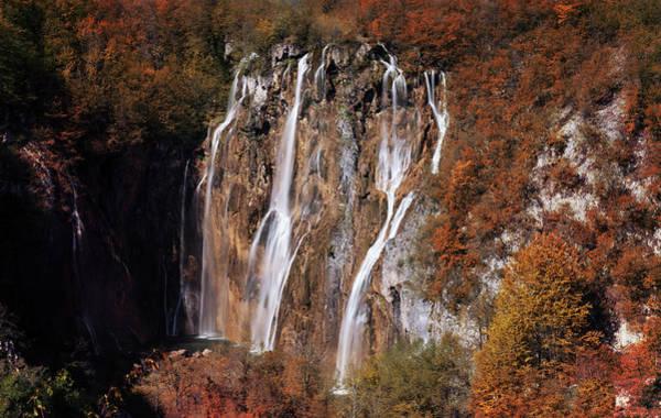 Photograph - Waterfall In Autumn Scenery by Jaroslaw Blaminsky