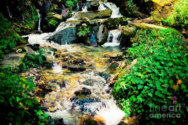 Photograph - Waterfall In Himalaya Mountains, Nepal by Raimond Klavins