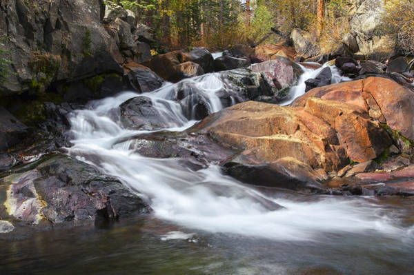 Photograph - Waterfall In Lee Vining Canyon 2 by Frank Lee Hawkins