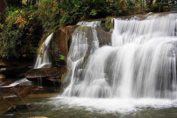 Mill Shoals Falls Wall Art - Photograph - Waterfall In Nc by Jill Lang