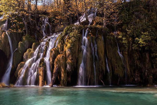 Photograph - Waterfall In The Park by Jaroslaw Blaminsky