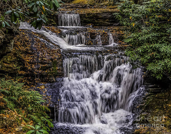 Photograph - Waterfall In The Pennsylvania Poconos by Nick Zelinsky