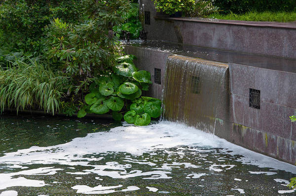 Photograph - Waterfall - Longwood Gardens by Bill Cannon