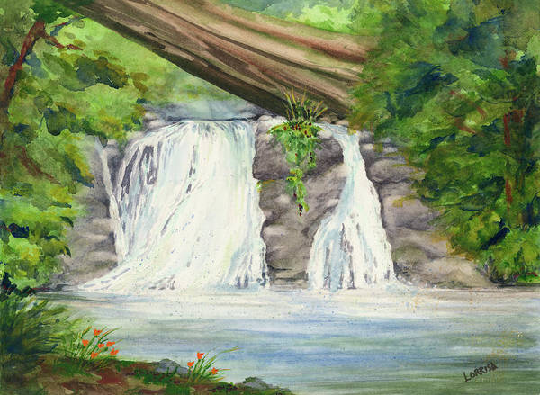 Painting - Waterfall by Lorrisa Dussault