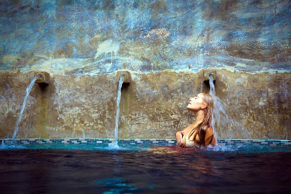 Three Seashells Photograph - Waterfall Mermaid by Karl Alexander